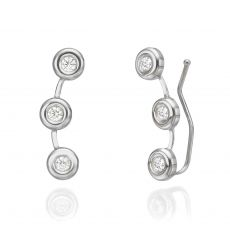 14K White Gold Women's Earrings - Tucana
