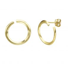 14K Yellow Gold Women's Earrings - Sunrise - Large