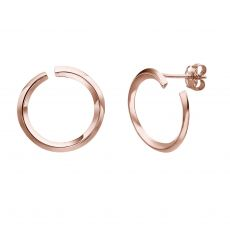 14K Rose Gold Women's Earrings - Sunrise - Large