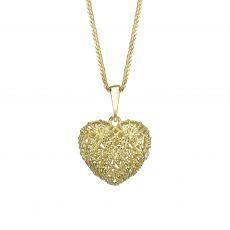 Gold Pendant - Delicate Heart