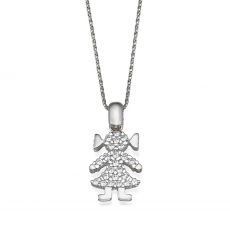 Pendant in White Gold - Go Girl
