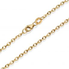 "14K Yellow Gold Chain for Men Rollo 2.2mm Thick, 19.5"" Length"