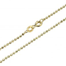 "14K Yellow Gold Chain for Men Balls 1.8mm Thick, 19.7"" Length"