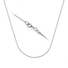 "14K White Gold Venice Chain Necklace 0.53mm Thick, 15.74"" Length"