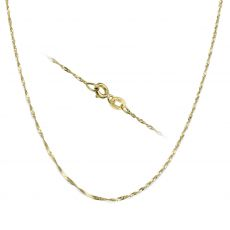 "14K Yellow Gold Singapore Chain Necklace 1.6mm Thick, 17.7"" Length"