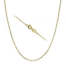 "14K Yellow Gold Balls Chain Necklace 1.4mm Thick, 19.7"" Length"