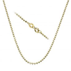"14K Yellow Gold Balls Chain Necklace 1.8mm Thick, 17.7"" Length"