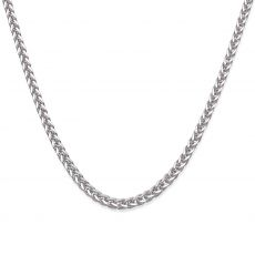 "14K White Gold Chain for Men Spiga 1.5mm Thick, 19.5"" Length"
