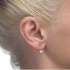 Dangle Earrings in14K Yellow Gold - Corinne Butterfly