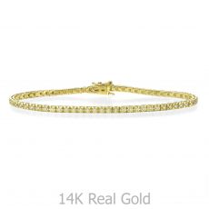 Diamond Tennis Bracelet in 14K Yellow Gold - Kate