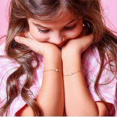 14K Gold Girls' Bracelet - Ice Cream Cone
