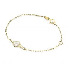 14K Gold Girls' Bracelet - Ice Cream Cone