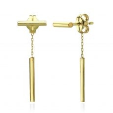 14K Yellow Gold Women's Earrings - Ropes of Gold