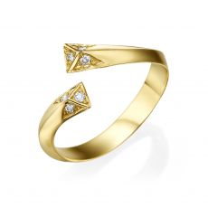 Diamond Ring in 14K Yellow Gold - Aphrodite