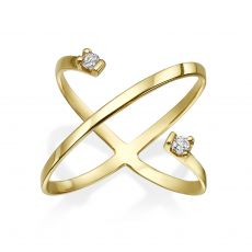 Diamond Ring in 14K Yellow Gold - Vesta