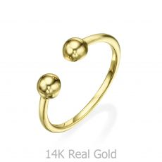 14K Yellow Gold Rings - Golden Circles