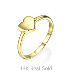 Ring in 14K Yellow Gold - Big Heart