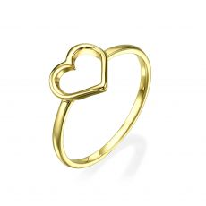 Ring in 14K Yellow Gold - Heart