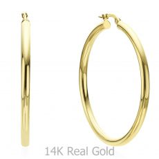 14K Yellow Gold Women's Earrings - XL