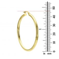 Hoop Earrings in 14K White Gold - XL
