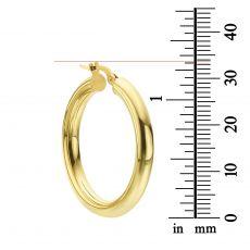 Hoop Earrings in 14K White Gold - L