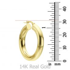 14K Yellow Gold Women's Earrings - M (thick)