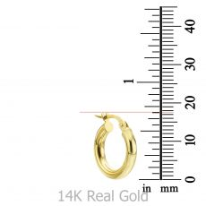 Hoop Earrings in 14K Yellow Gold - S