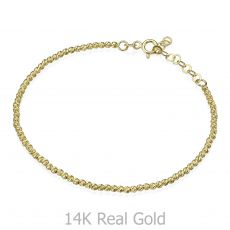Women's Bracelet in 14K Yellow Gold - Balls