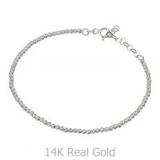 Women's Bracelet in 14K White Gold - Balls