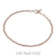 Women's Bracelet in 14K Rose Gold - Balls
