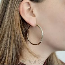 Hoop Earrings in 14K Yellow Gold - XL