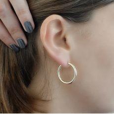 Hoop Earrings in 14K Yellow Gold - M (thin)