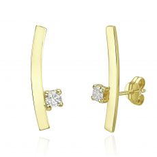 14K Yellow Gold Climbing Earrings- Sunshine