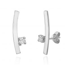 14K White Gold Climbing Earrings - Sunshine