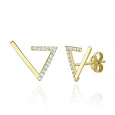 14K Yellow Gold Climbing Earrings - Cleopatra