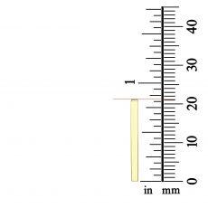 14k yellow gold women's pandants - Rectangular gold bar