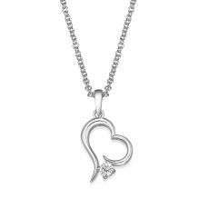 14K White Gold Diamond Women's Pendant - Heart of Atlantis