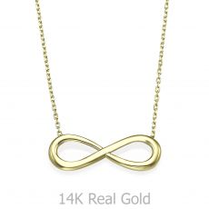 14k Yellow gold women's pandants - Infinity