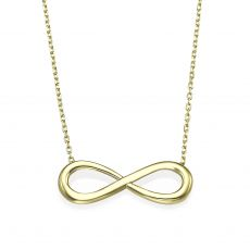 14k Yellow gold women's pendant  - Infinity