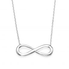 14k White gold women's pandants - Infinity