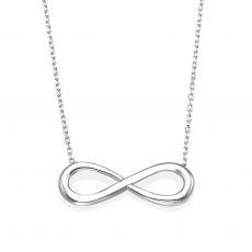 14k White  gold women's pendant - Infinity