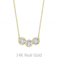 14k Yellow gold women's pandants - Arbel