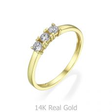 14K Yellow Gold Rings - Loren