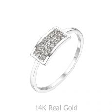 14K White Gold Rings - Merlin