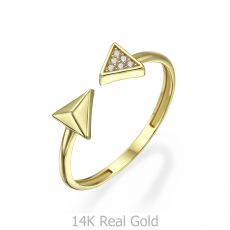 14K Yellow Gold Rings - Arrows