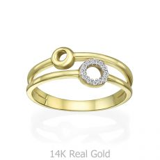 14K Yellow Gold Rings - Tiana