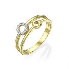 14K Yellow Gold Rings - Tiana