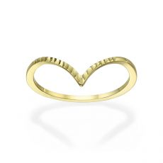 14K Yellow Gold Rings - Diamond Engraving