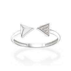 14K White Gold Rings - Arrows