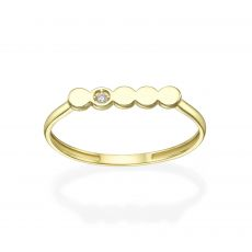 14K Yellow Gold Rings - Nicole